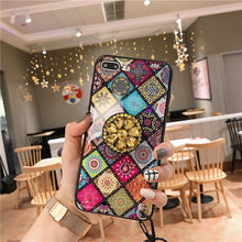 Luxury glitter marble diamond ring holder silicone phone case for iphone