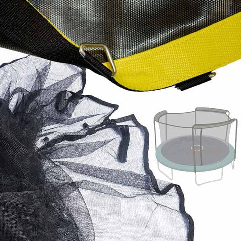 Trampoline Net and Premium Mat Combo for 15 ft. Bounce Pro / TR-180N-6L50