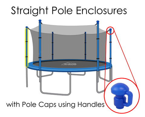 Replacement Net for 12ft Trampolines - Fits 6 Straight Poles (Using Handled Caps)