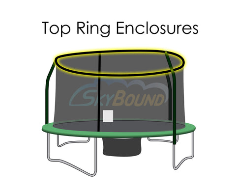 Replacement Net for 14ft Trampolines - Fits Top Ring Enclosures with 4 Poles