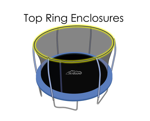Replacement Net for 14ft Trampolines - Fits Top Ring Enclosures with 6 Poles