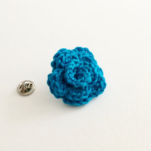 Lapel Bloom, Turquoise