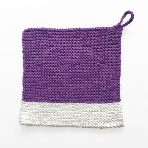 Colour Chip Pot Holder/Dish Cloth, Violet