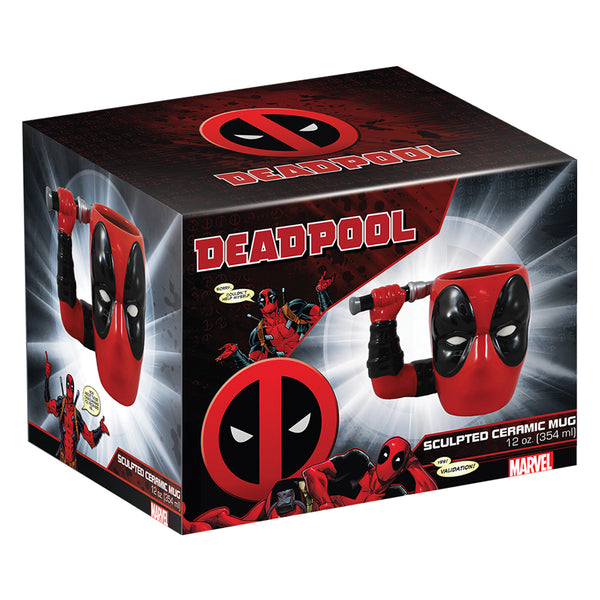 Marvel Deadpool 12 oz. Sculpted Ceramic Mug