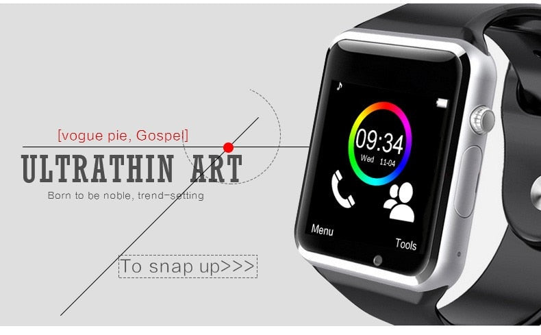luxury smartwatch cheap iphone and android ultra thin art