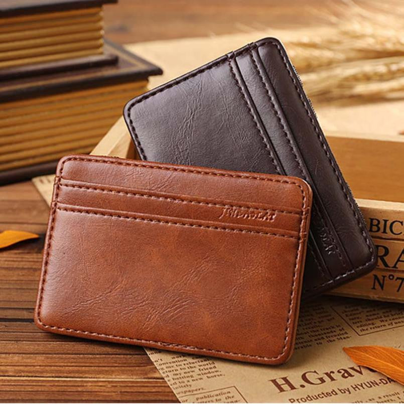 clever wallet free wallet magic light and dark brown