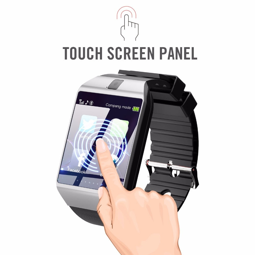 2019 Smartwatch for android silver touch screen