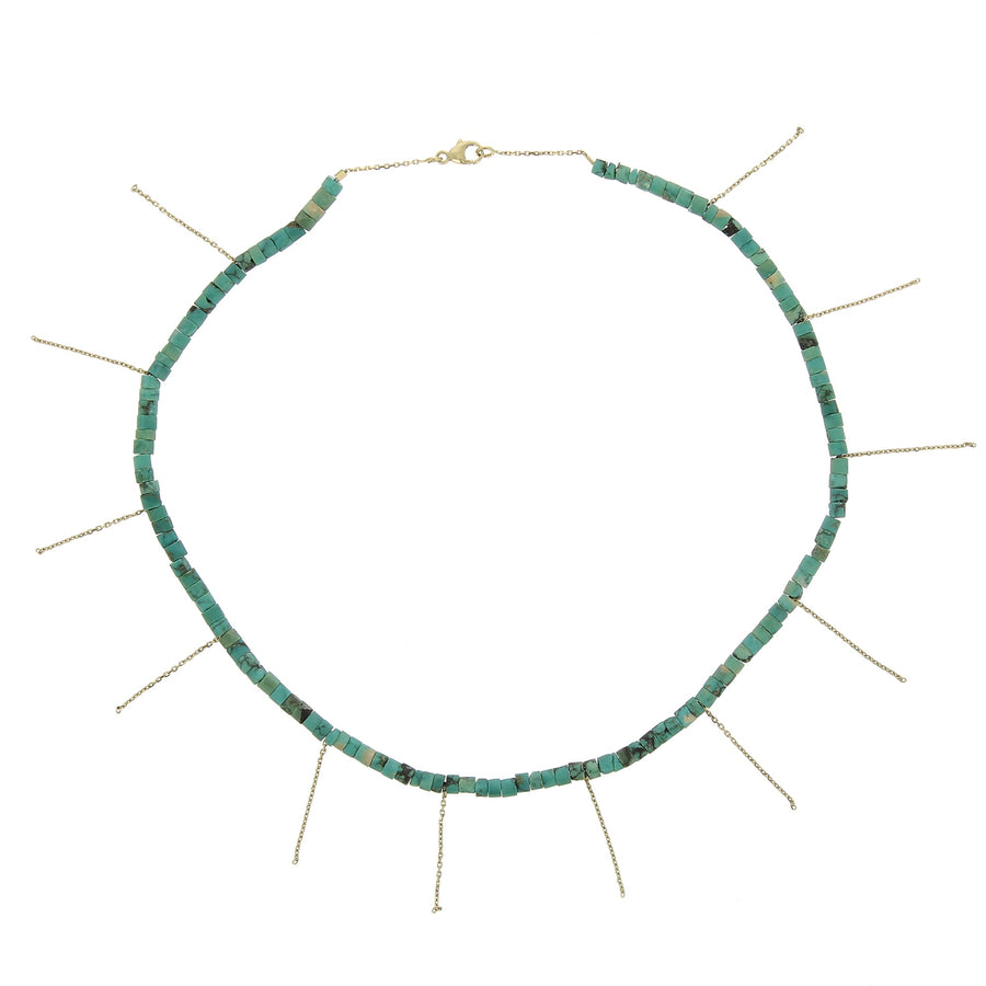Collier Franges Turquoises