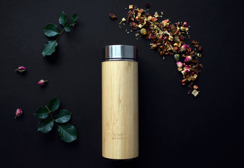 Bamboo tea flask