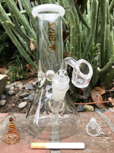 "Unique 8"" Hookah Pipe Glass Beaker w/Quartz Bucket + chill' Em - Volo Smoke and Vape"