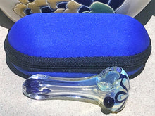 "Exquisite Fumed 3.5"" Glass Best Hand Pipe w/ Zipper Padded Pouch - Volo Smoke and Vape"