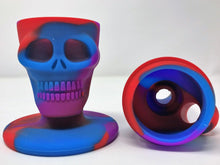 Mini Silicone Detachable Skull Head Bong w/ Grinder & 2 Bowls - Volo Smoke and Vape