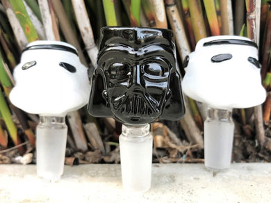 14mm M- Star Wars Darth Vader & 2 Storm Troopers Glass Bowls - Volo Smoke and Vape