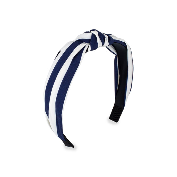 Blue & White Striped Headband by Mint & Moss