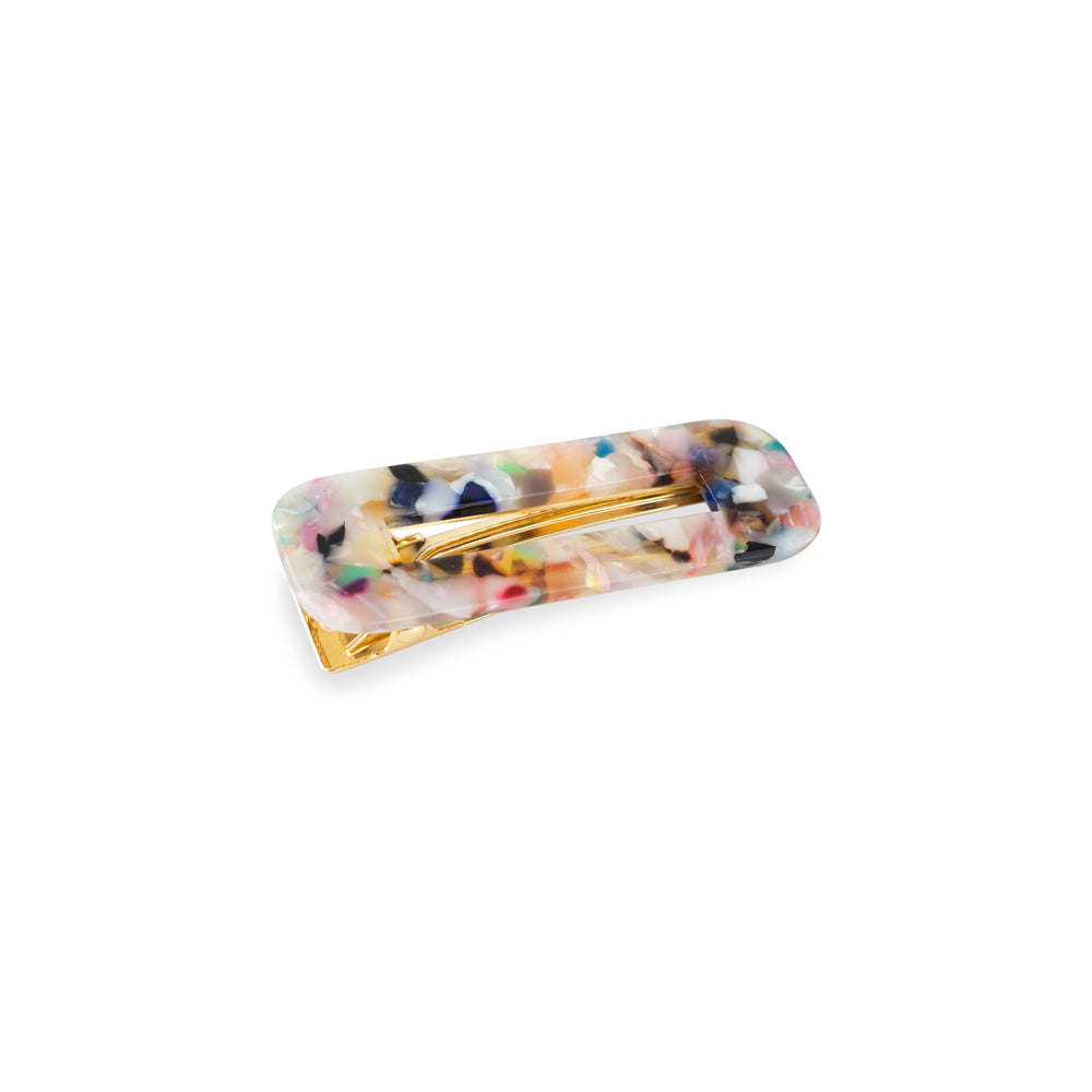Mutli Coloured Acrylic Hair Barrette Clip