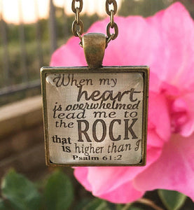 Psalm 61:2 Necklace - Redeemed Jewelry