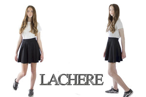 LACHERE Black Skater Skirt | Mini | Stretch (Size UK 4 to 14)