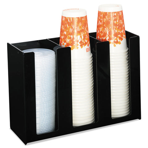 Boardwalk Cup Holder, 12 x 4 x 8, Black, Acrylic