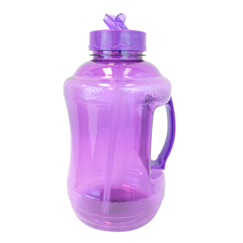 1.68 Liter BPA Free Water Bottle with Drinking Straw - Purple