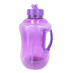 Water Bottle with Drinking Straw - Purple