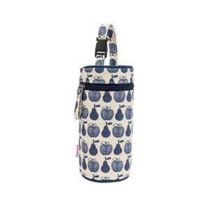 Pink Lining insulated baby bottle holder - apples and pears