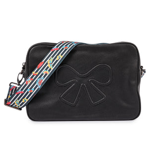 Pink Lining Hoxton Vegan Leather Black Cross Body Baby Changing Bag