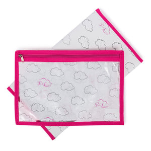 Pink Lining baby changing mat & wet pouch