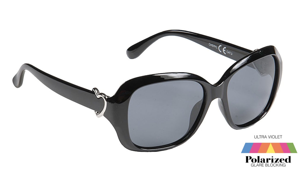 Cheryl Black Polarized Ladies Sunglasses