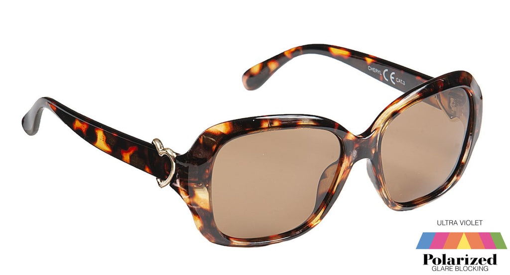 Cheryl Tortoiseshell Polarized Ladies Sunglasses