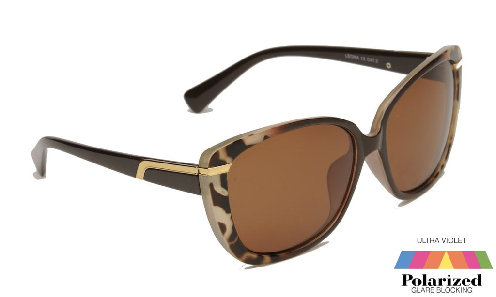 Leona Brown Polarized Ladies Sunglasses