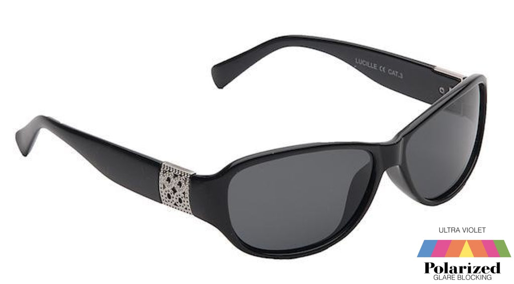 Lucille Black Polarized Ladies Sunglasses