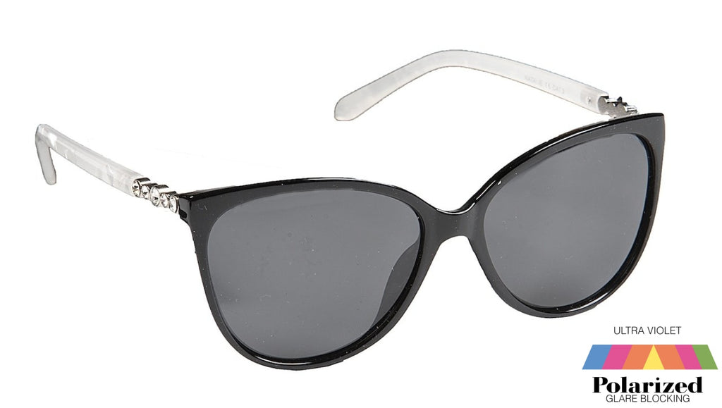 Natalie Black Polarized Ladies Sunglasses