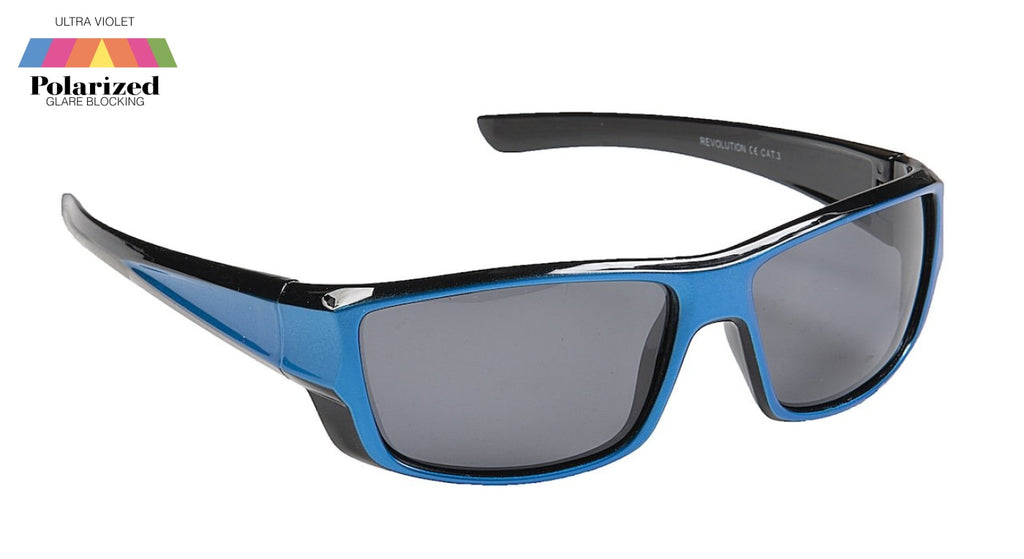 Revolution Blue Polarized Sports Glasses