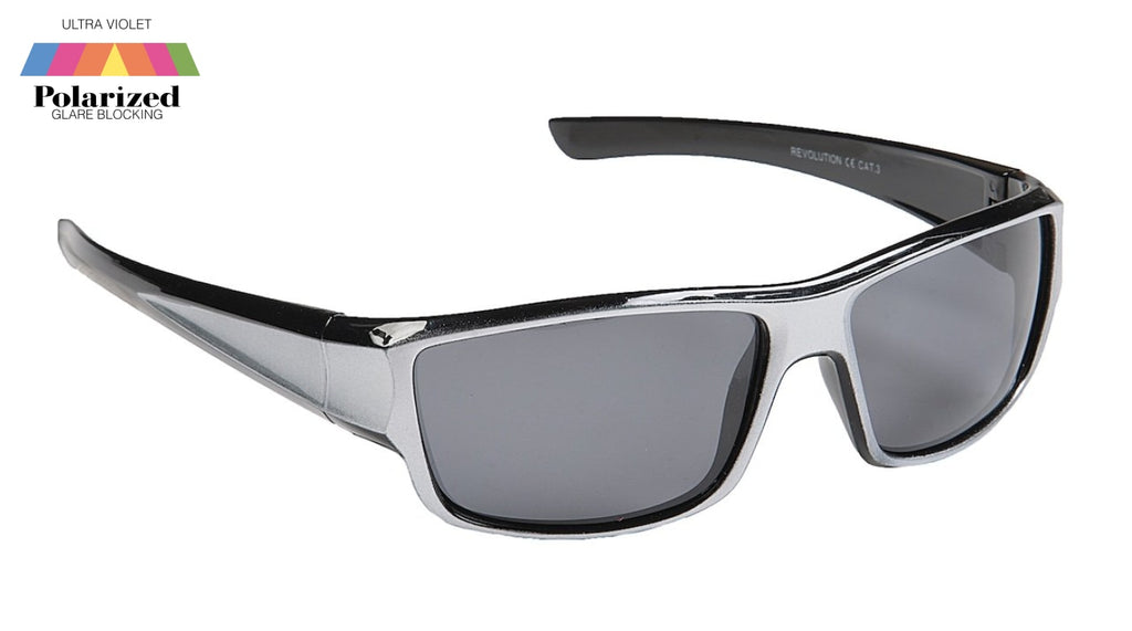Revolution Silver Polarized Sports Glasses