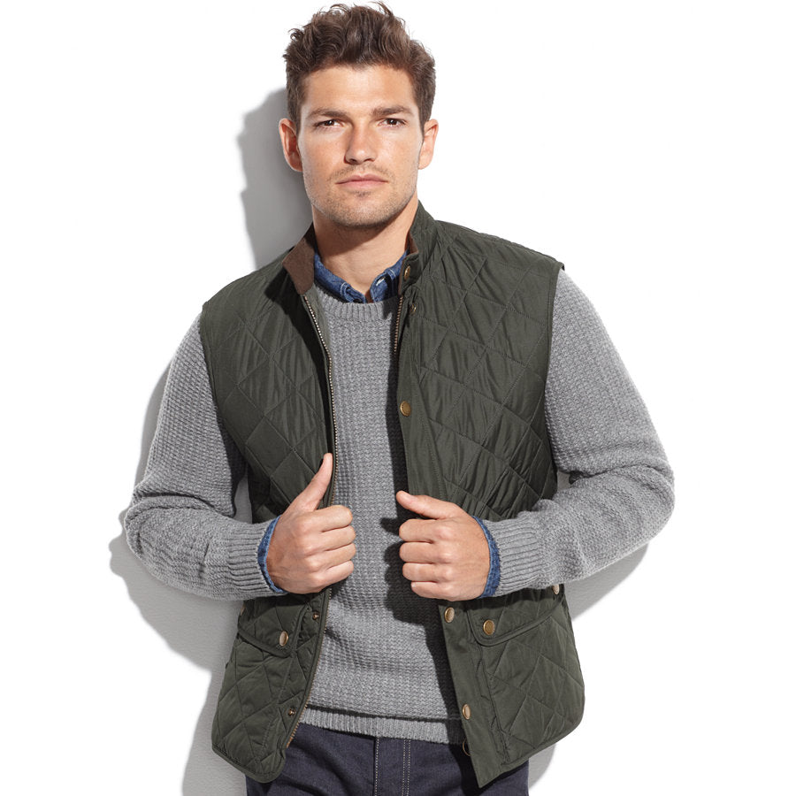 Barbour Lowerdale Quilted Vest Green The Lucky Knot Men S