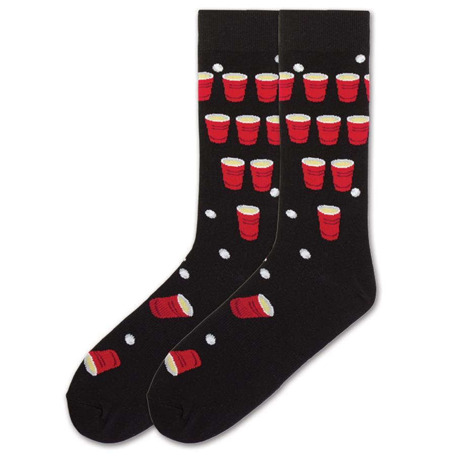 MEN'S BEER PONG SOCKS by K. Bell from THE LUCKY KNOT