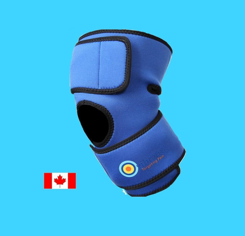 blue vibrating knee brace