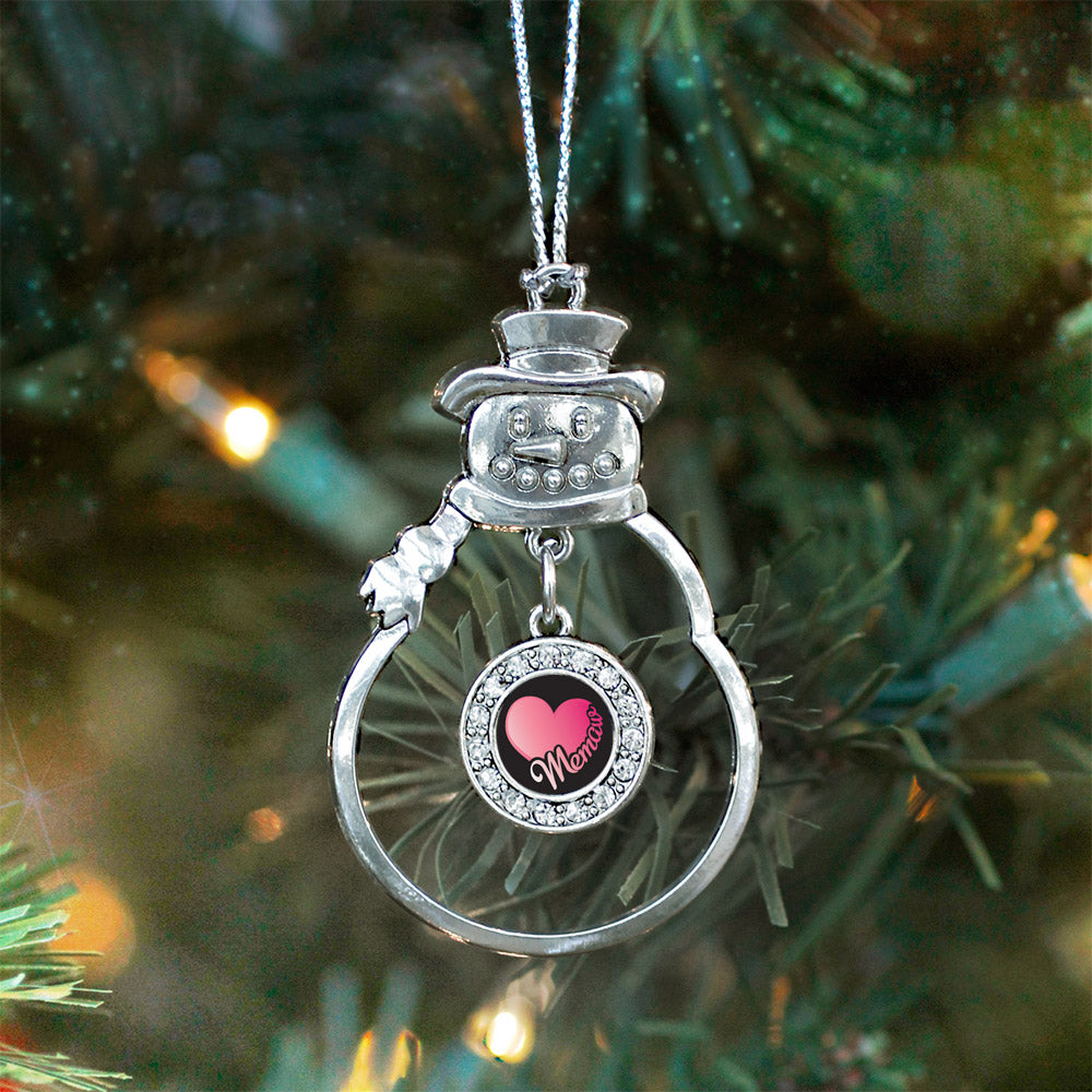 MeMaw Circle Charm Christmas / Holiday Ornament
