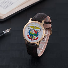 Panama Escudo 30 Meters Waterproof Quartz Fashion Watch With Brown Genuine Leather Band
