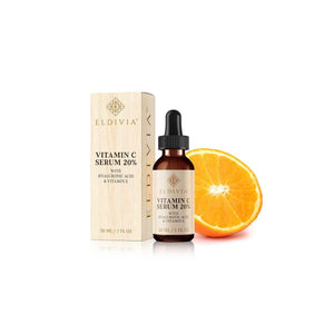vitamin c serum with hyaluronic acid and vitamin e eldivia 1 ounce