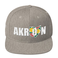 Beautiful Akron 2 Embroidered Snapback Hat