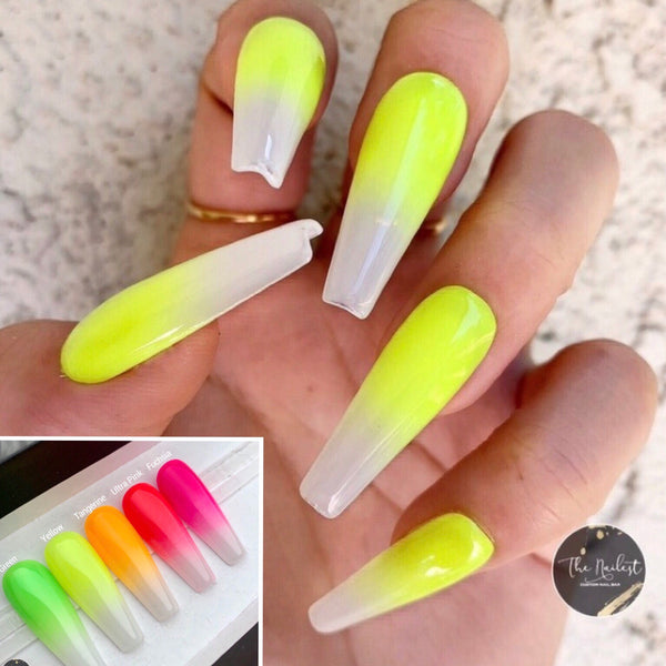 WHITE OPAL NEON OMBRE OMBRE SET- 5 COLORS