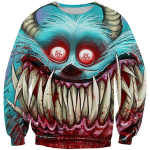 Creepy Monster Inc Style Sweatshirt - Scary Monster Clothing