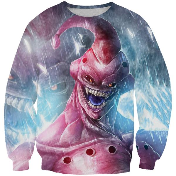 Creepy Super Buu Sweatshirt - Dragon Ball Z Apparel