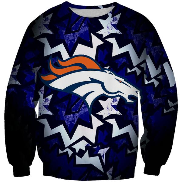 Denver Broncos Sweatshirt - Football Broncos Streetwear Clothes