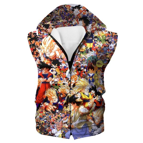 Dragon Ball All Characters Hooded Tank - DBZ Clothing and Hoodies