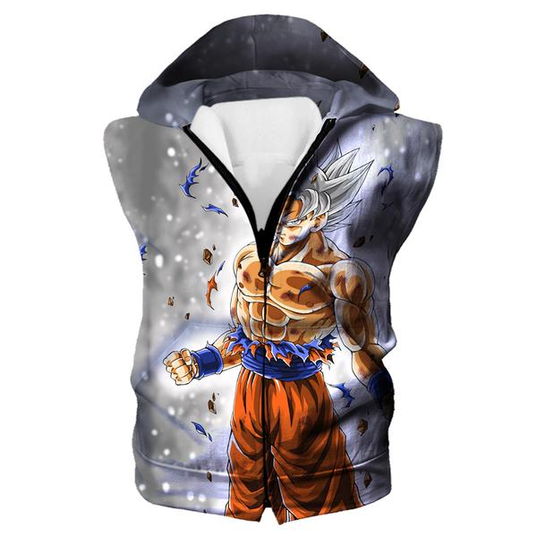 Dragon Ball Hoodie - Ultra Instinct Goku Hooded Tank Clothing