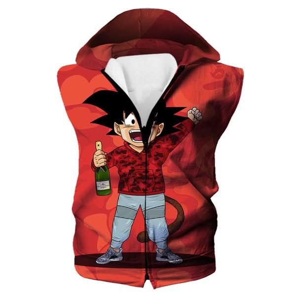 Kid Goku Bape Hooded Tank  Cosplay - Dragon Ball Bape Clothes