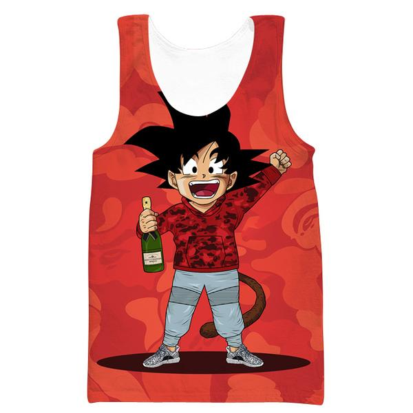 Kid Goku Bape Tank Top Cosplay - Dragon Ball Bape Clothes