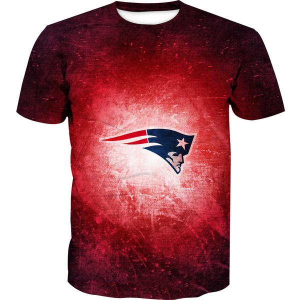 Red New England Patriots T-Shirt - Football Patriots Clothing